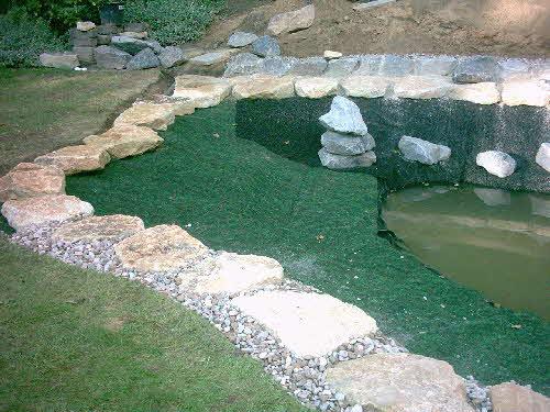 Ufermatte Breite 0,50 Meter Bewuchsmatte Böschungsvlies Teich Böschungsmatte