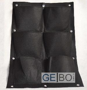 pflanzenwand schwarz pflanzen wand pflanztasche pflanzbeutel pflanzkorb 6taschen 4260391482854. Black Bedroom Furniture Sets. Home Design Ideas
